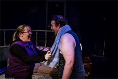 Kenni Flood (Erica Veazey) and Chris Foster (Jake Sherburne). Photo by RCS Maine