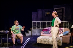 Becky (Amy Moran) and Chris (Jake Sherburne). Photo by RCS Maine