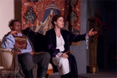 King Philip (Conor Kenny) and Alais (Aimee Gerow). Photo by RCS Maine
